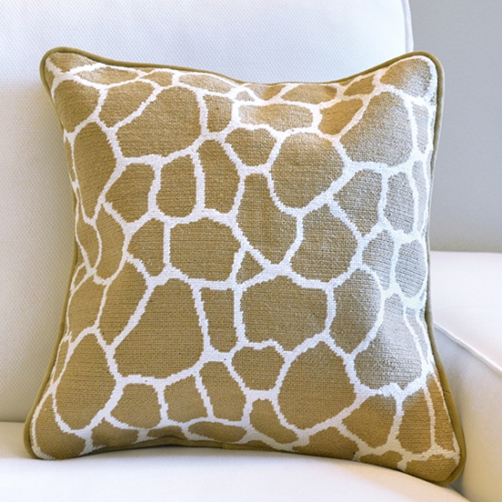 Animal Print Needlepoint Pillows : Giraffe Print Needlepoint Pillow Smathers & Branson