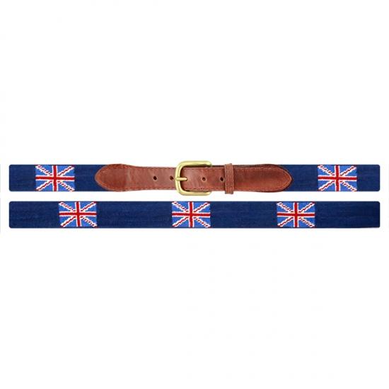 Union Jack Needlepoint Belt