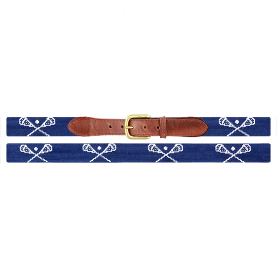 Smathers /& Branson Old School Lacrosse Traditional Needlepoint Belt B-042