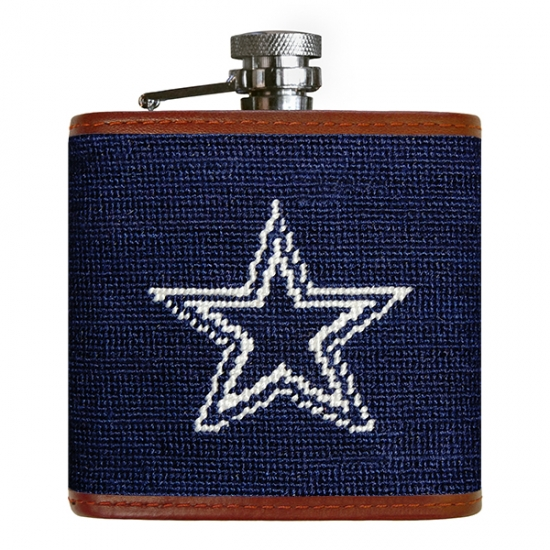 Dallas Cowboys Stainless Steel Coasters 4 Pack: Dallas Cowboys Needlepoint Flask