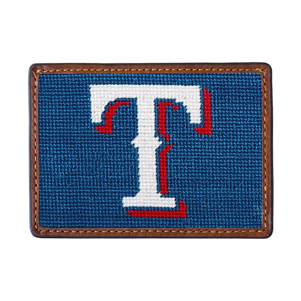 Texas Rangers Needlepoint Card Wallet Smathers Amp Branson