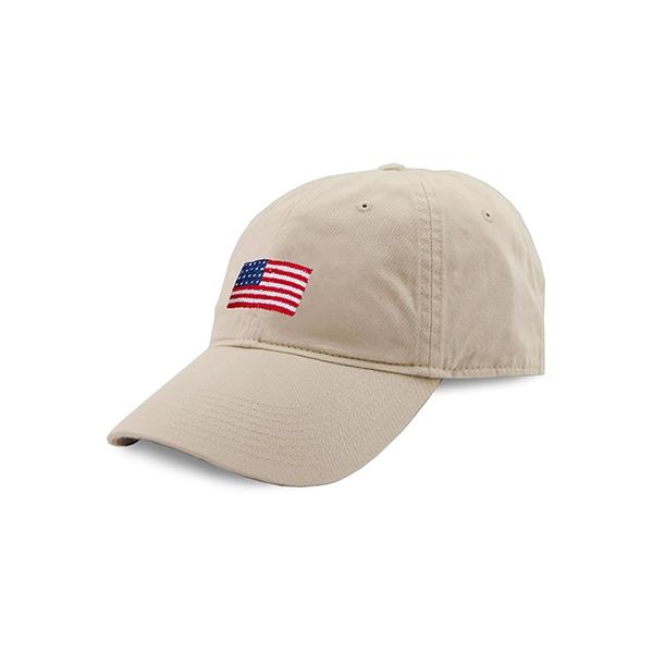 56f83da1c8b American Flag Needlepoint Hat (Stone)