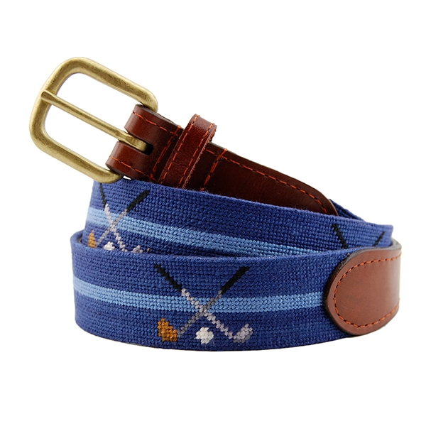 c8c6106a5b650 Crossed Clubs Needlepoint Belt