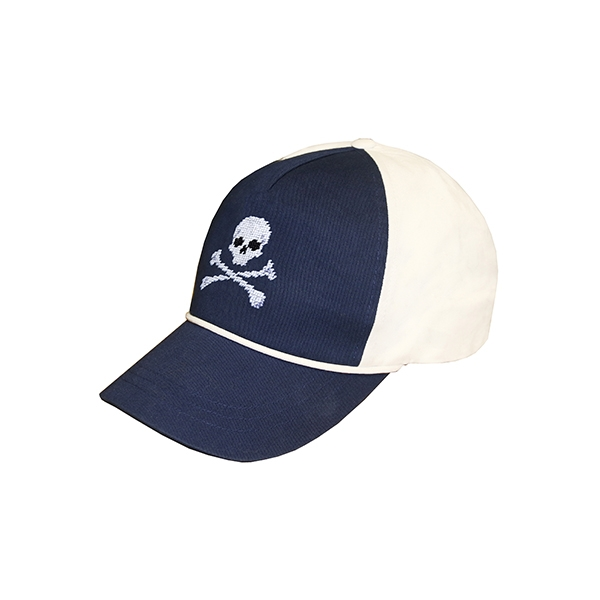Jolly Roger Rope Snapback Hat (Navy-White)  aa5839654a03