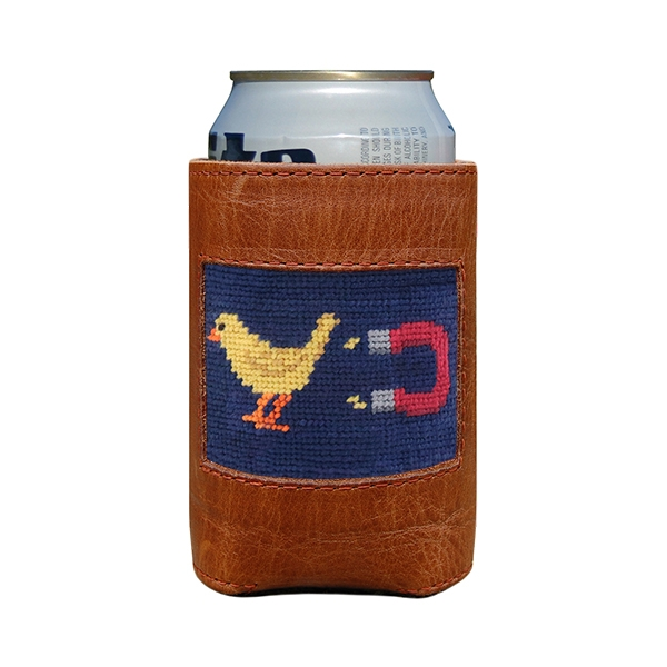 Chick Magnet Needlepoint Can Cooler