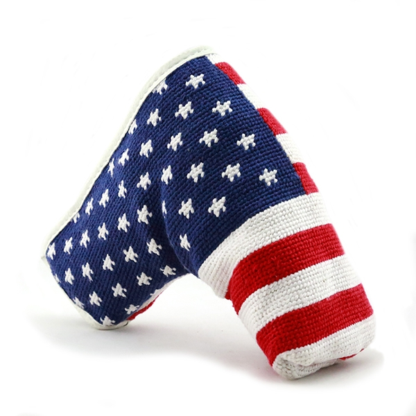 9dc0cb303f1 Big American Flag Needlepoint Putter Headcover