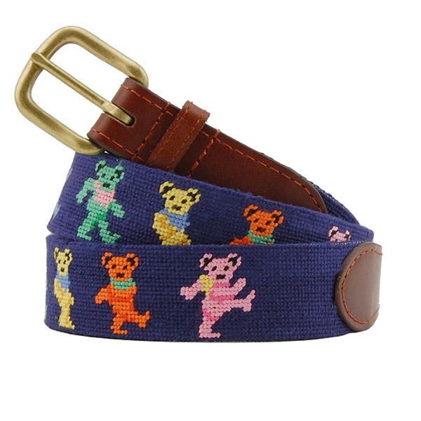 Leather Bear belt bears Handmade