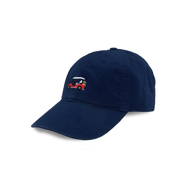 Golf Cart Needlepoint Hat (Navy)  8bcd3c0b4be