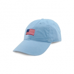 37eeffeb8cb American Flag Needlepoint Hat (Sky Blue)