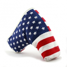 ca04615edd0 Big American Flag Needlepoint Putter Headcover